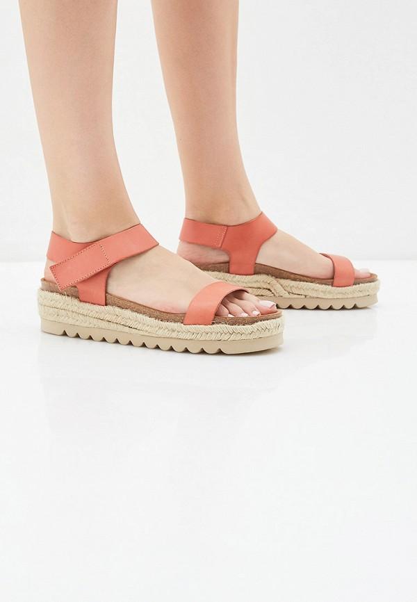 Фото 6 - женские сандали Weinbrenner by Bata кораллового цвета