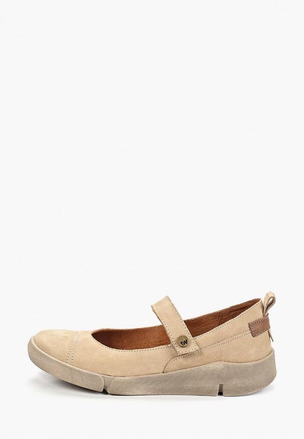 женские туфли weinbrenner by bata, бежевые
