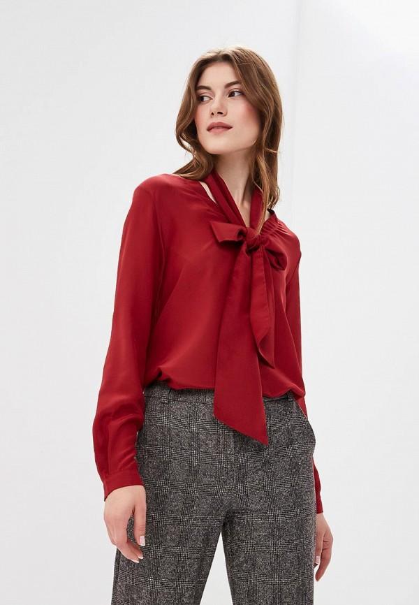 женская блузка max mara, бордовая