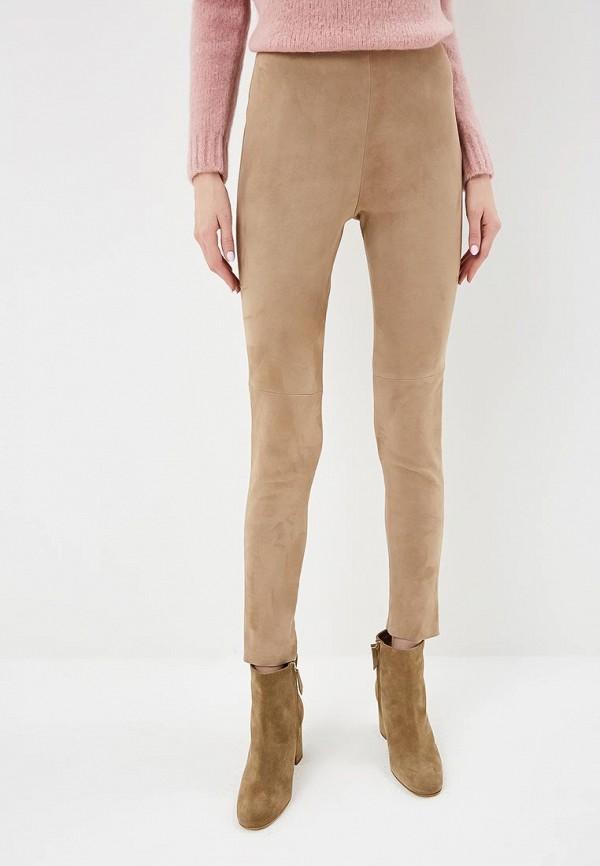 женские повседневные брюки max mara, бежевые