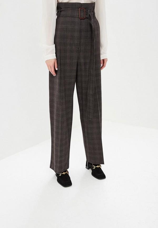 женские повседневные брюки max mara, коричневые