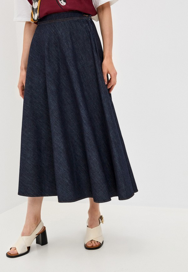 женская юбка-трапеции weekend by max mara, синяя