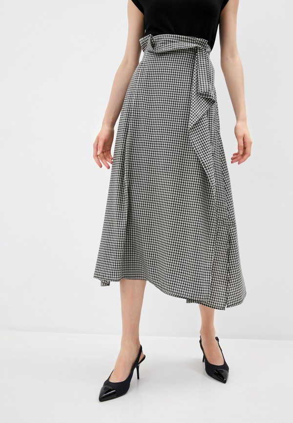 женская юбка-трапеции weekend by max mara, серая