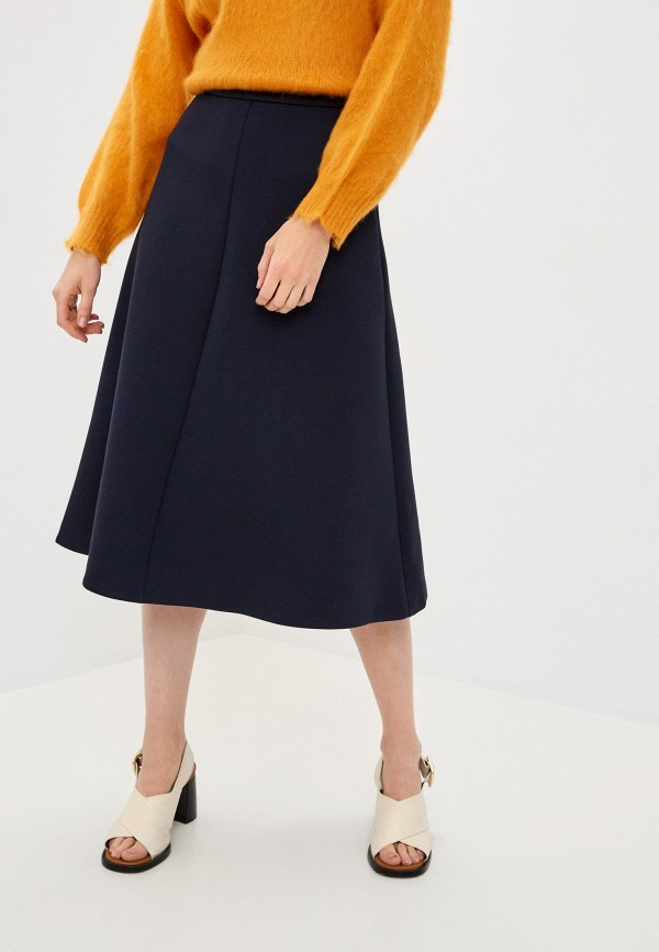 женская юбка-трапеции weekend by max mara, черная
