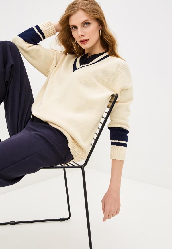 женский пуловер weekend by max mara, бежевый