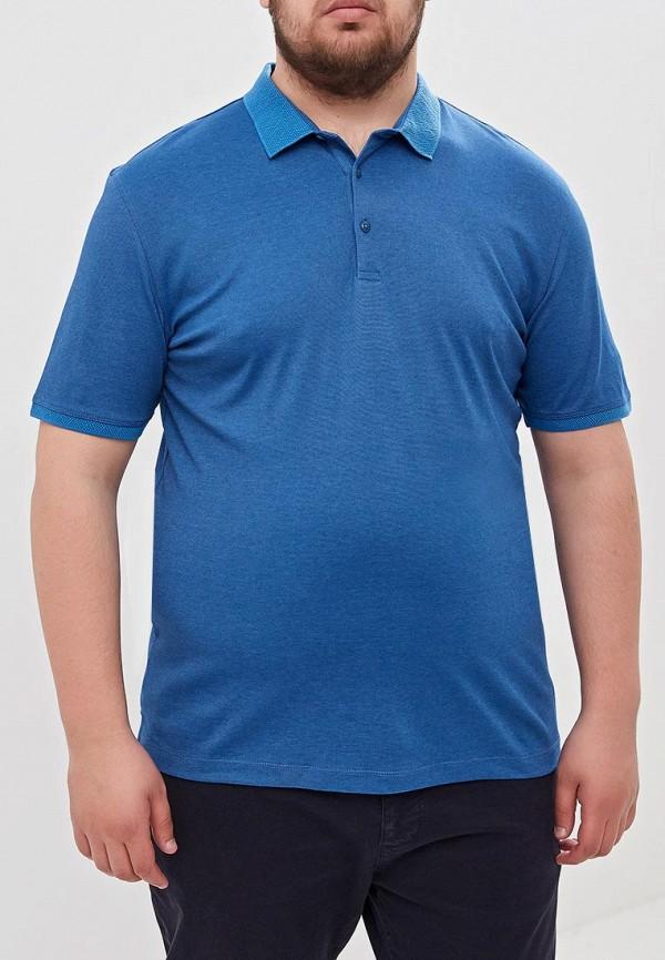 мужское поло westranger, голубое