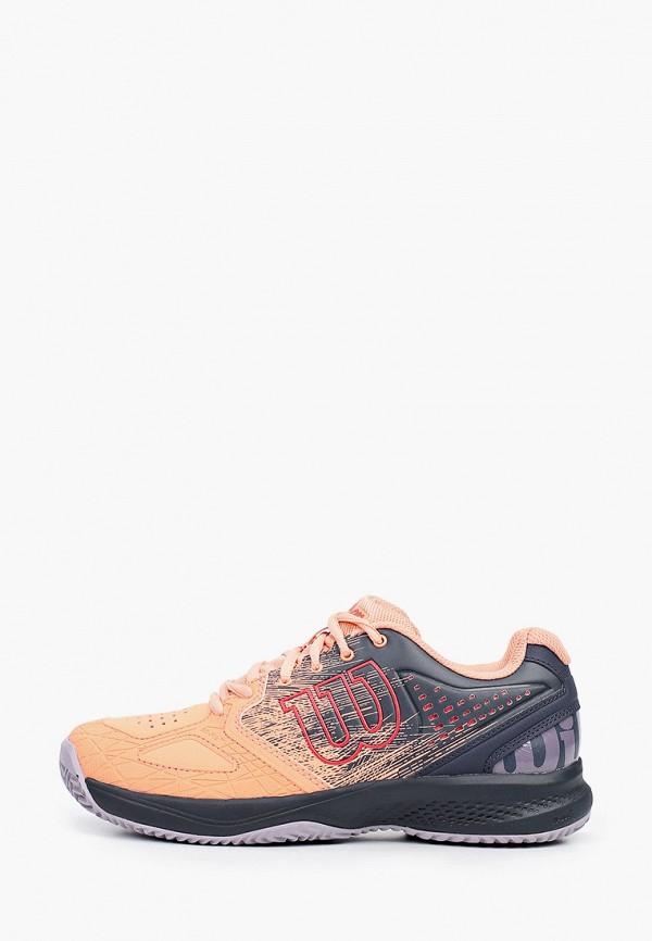 женские низкие кроссовки wilson, оранжевые