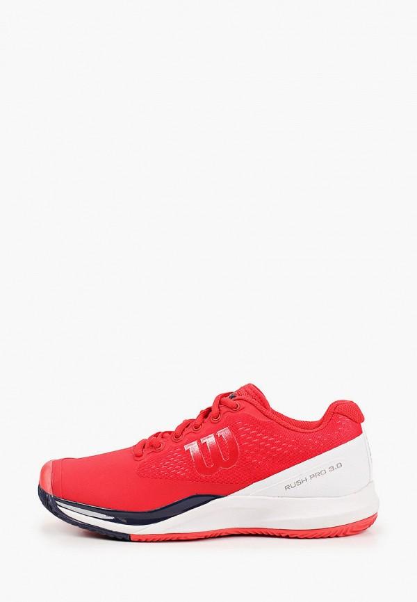 женские кроссовки wilson, красные