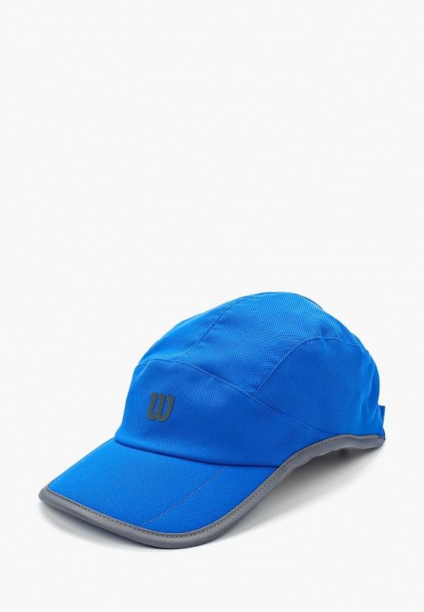 женская бейсболка wilson, синяя