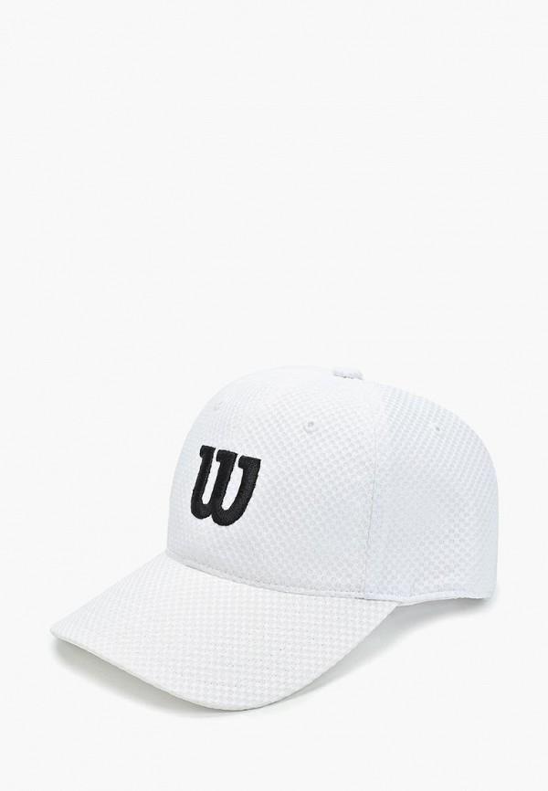 женская бейсболка wilson, белая
