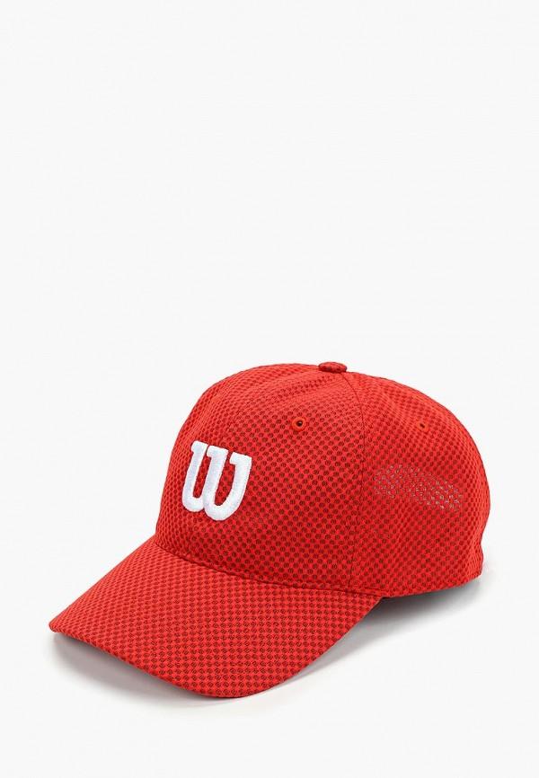 женская бейсболка wilson, красная