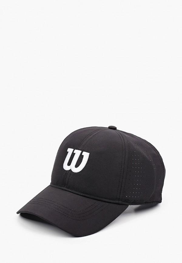 женская бейсболка wilson, черная