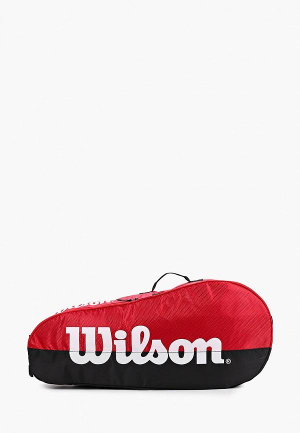 женская спортивные сумка wilson, красная