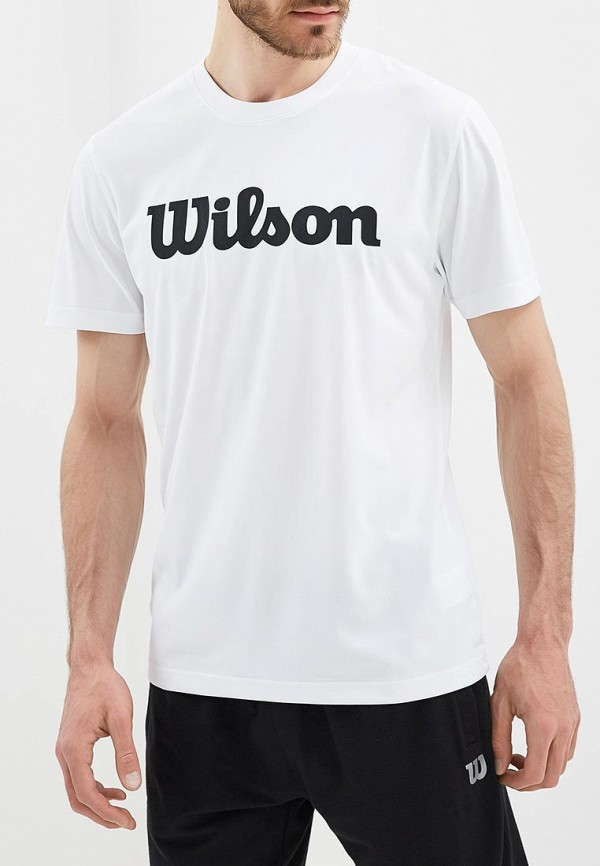 мужская футболка с коротким рукавом wilson, белая