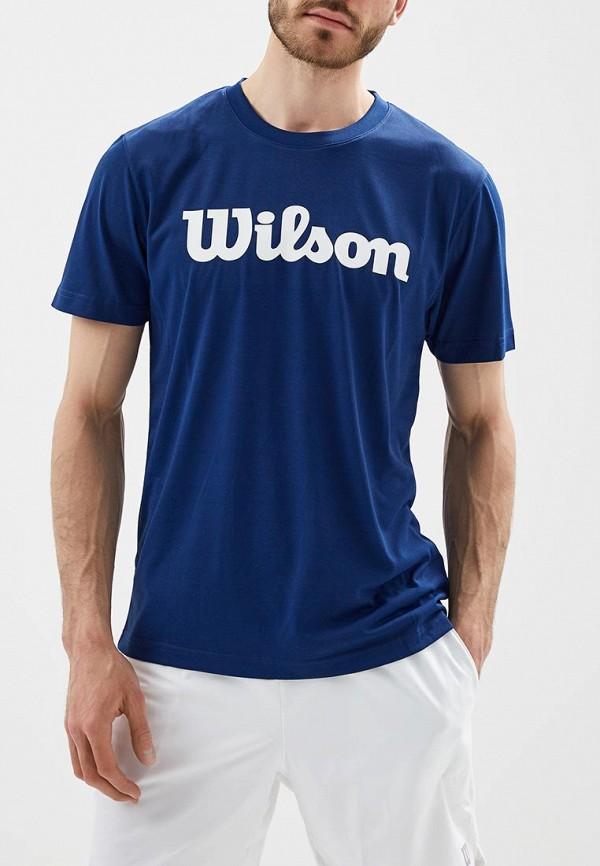мужская футболка с коротким рукавом wilson, синяя