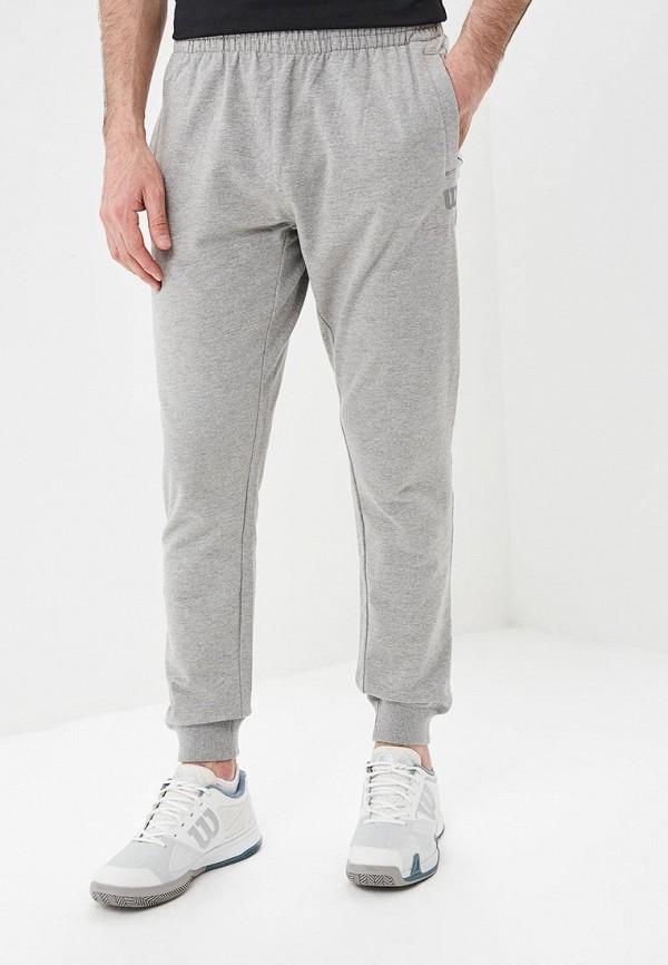 мужские спортивные спортивные брюки wilson, серые