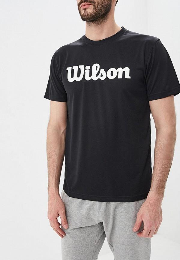 мужская футболка с коротким рукавом wilson, черная