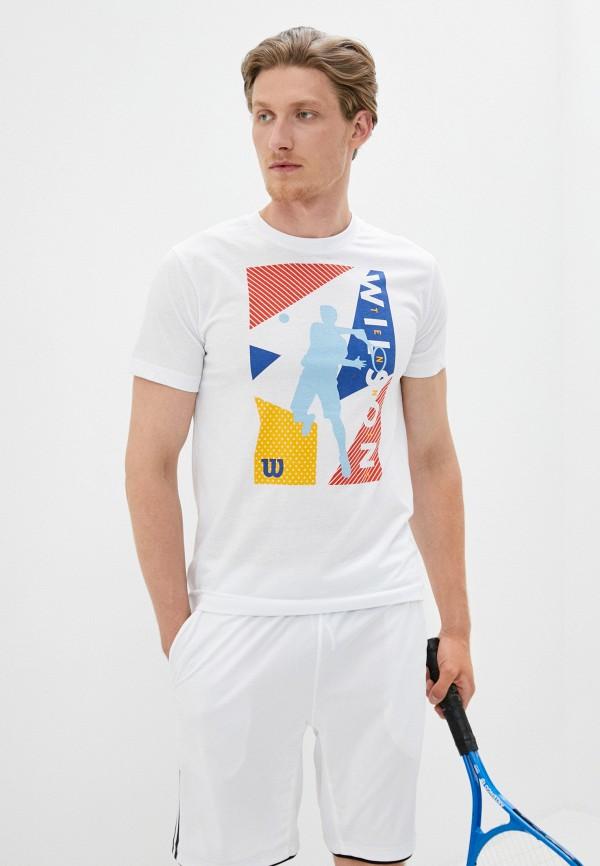 мужская спортивные футболка wilson, белая