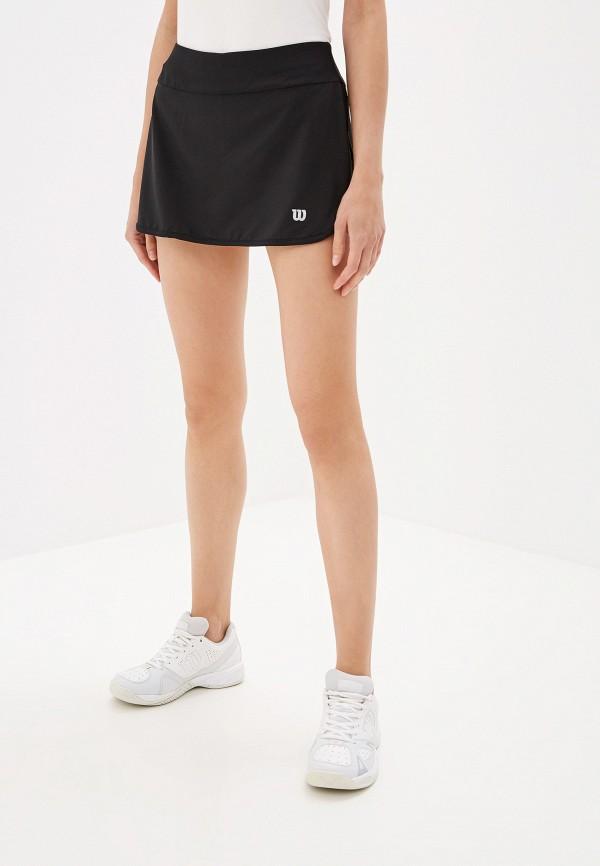женская спортивные юбка wilson, черная