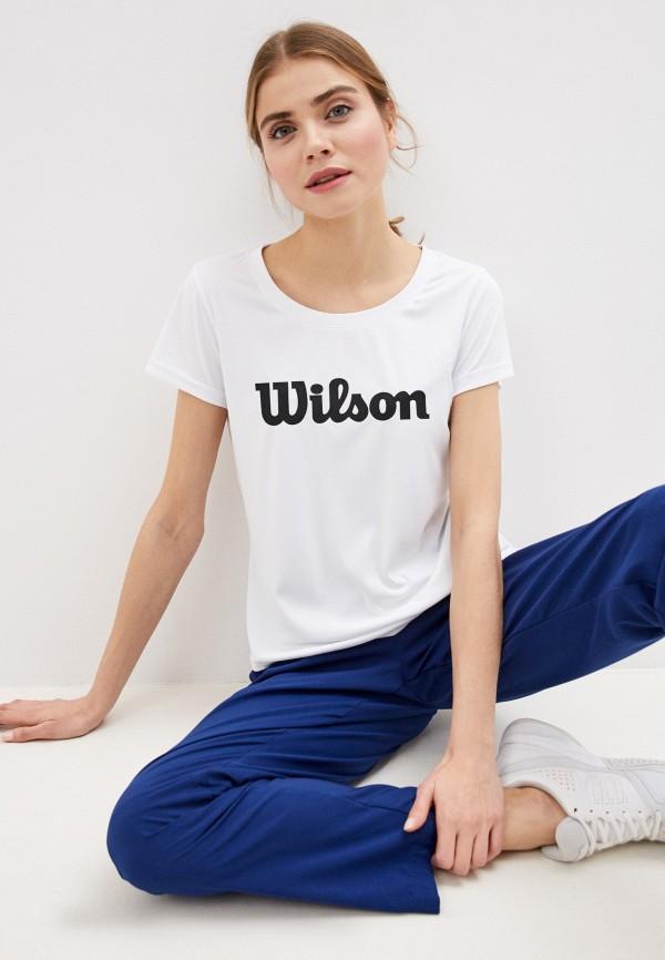 женская спортивные футболка wilson, белая