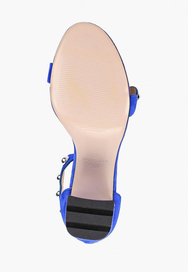 Фото 5 - Босоножки Winzor синего цвета
