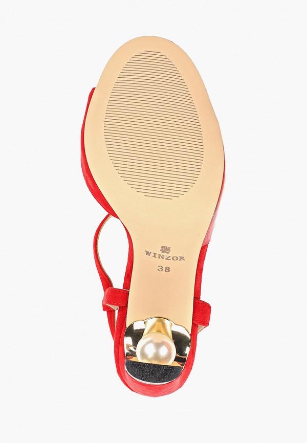 Фото 5 - Босоножки Winzor красного цвета