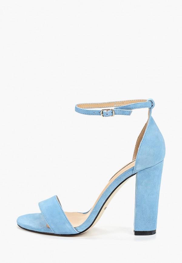 женские босоножки winzor, голубые