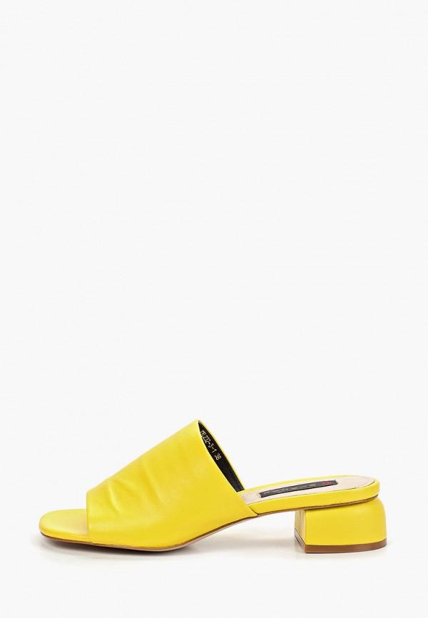 женское сабо winzor, желтое