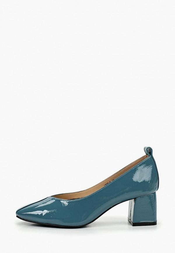 женские туфли с закрытым носом winzor, голубые