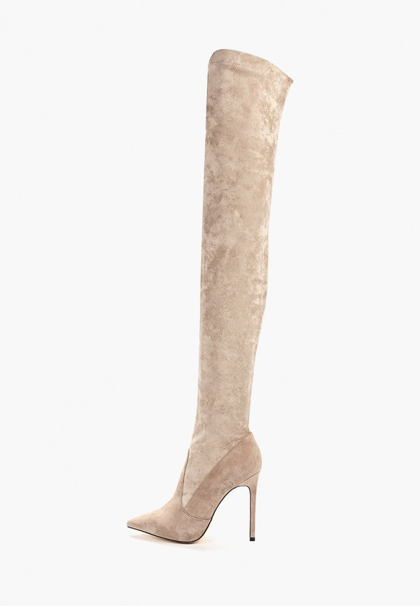 женские ботфорты winzor, бежевые