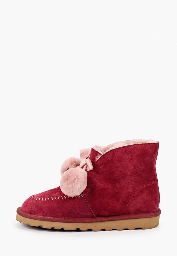 женские ботинки winzor, бордовые