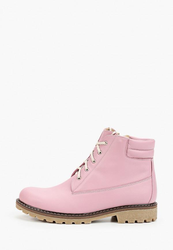 женские ботинки winzor, розовые