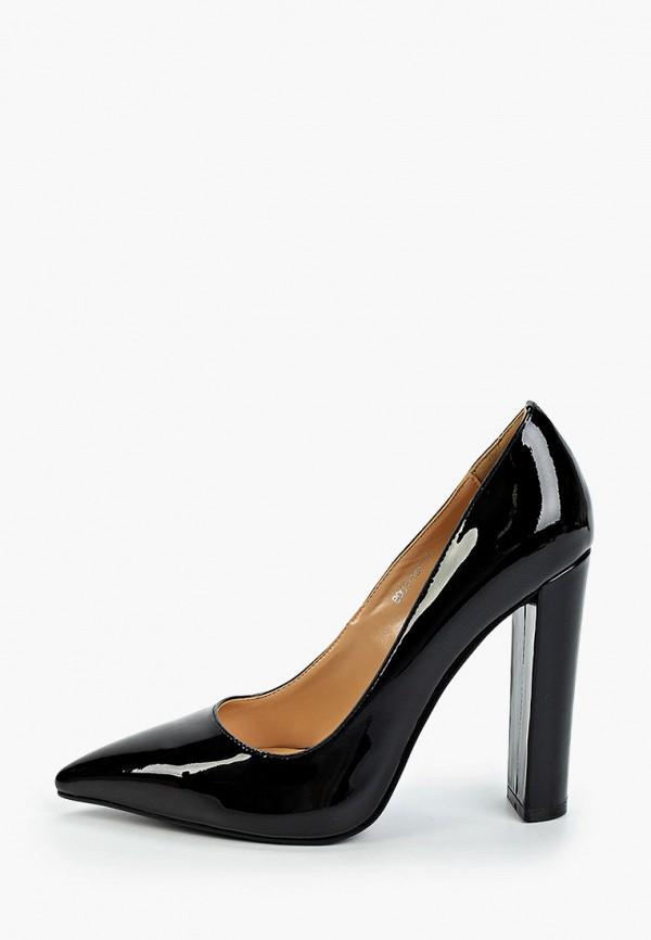 женские туфли с закрытым носом winzor, черные