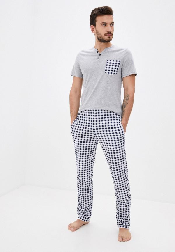 мужская пижама winzor, разноцветная
