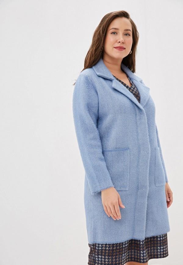 женское пальто winzor, голубое