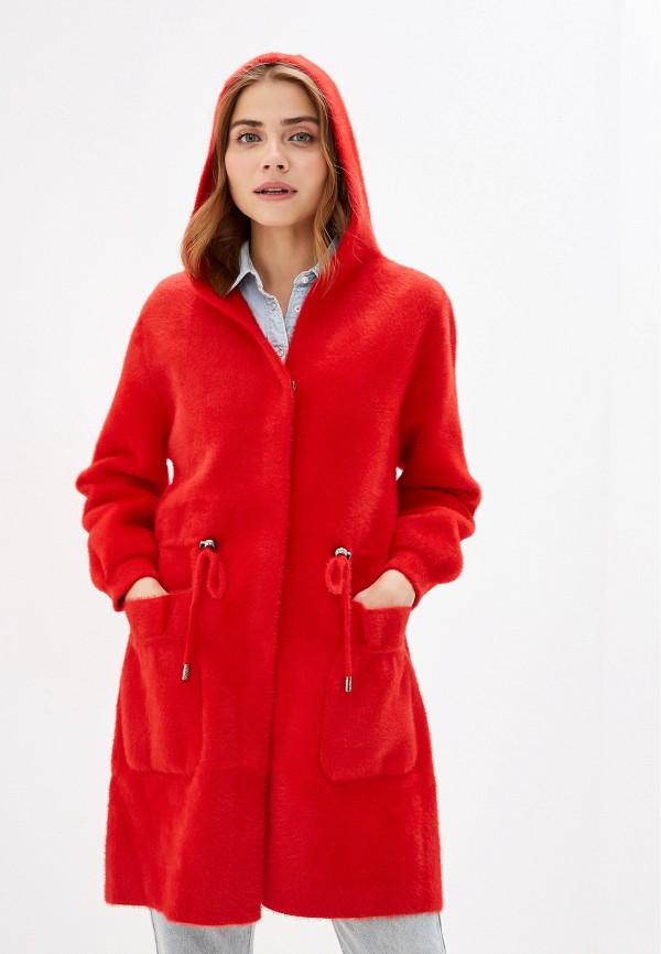 женское пальто winzor, красное