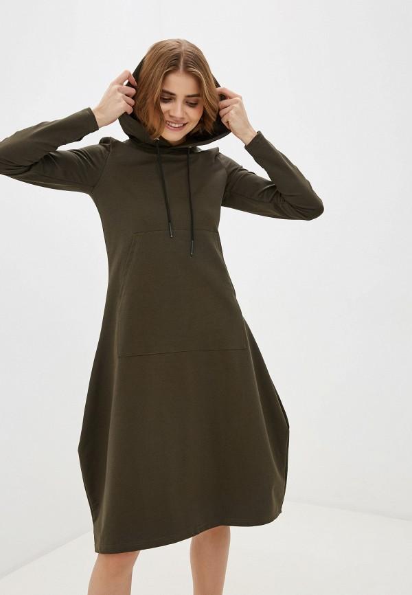 женское платье-толстовки winzor, хаки