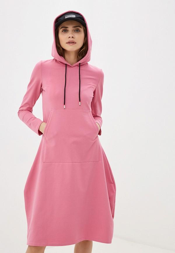 женское платье-толстовки winzor, розовое
