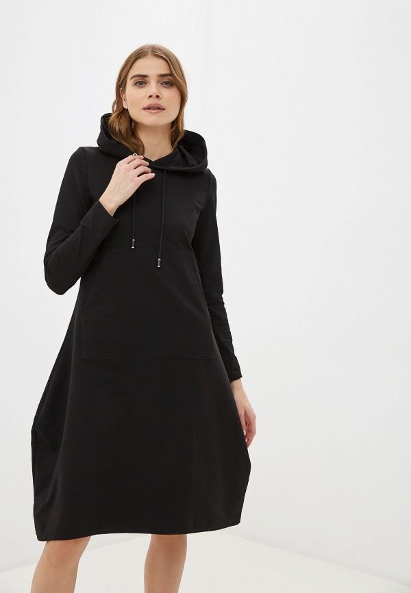женское платье-толстовки winzor, черное