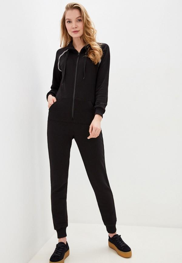 женский комбинезон с брюками winzor, черный