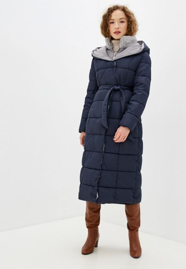 женская утепленные куртка winzor, синяя