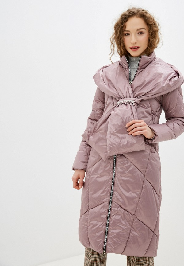 женская утепленные куртка winzor, розовая
