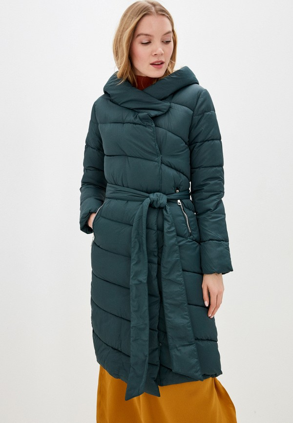 женская утепленные куртка winzor, зеленая