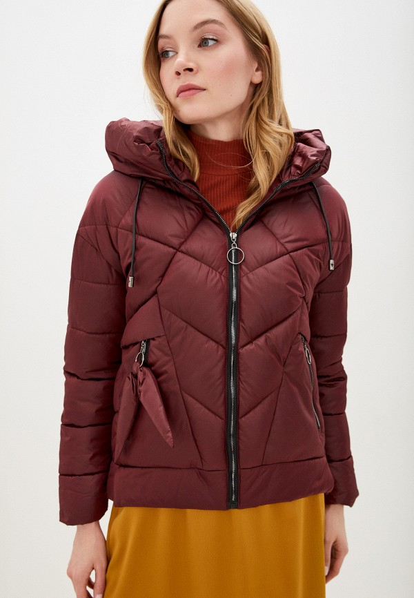 женская утепленные куртка winzor, бордовая