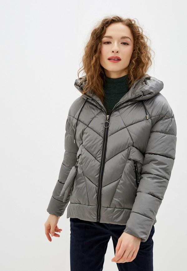 женская утепленные куртка winzor, серая