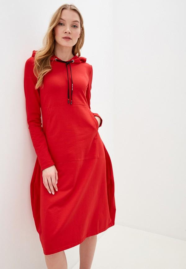 женское платье-толстовки winzor, красное