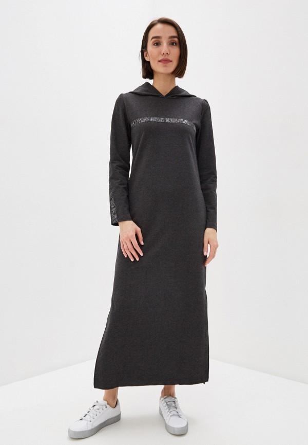 женское платье-толстовки winzor, серое
