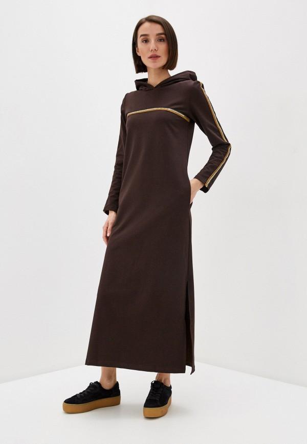 женское платье-толстовки winzor, коричневое