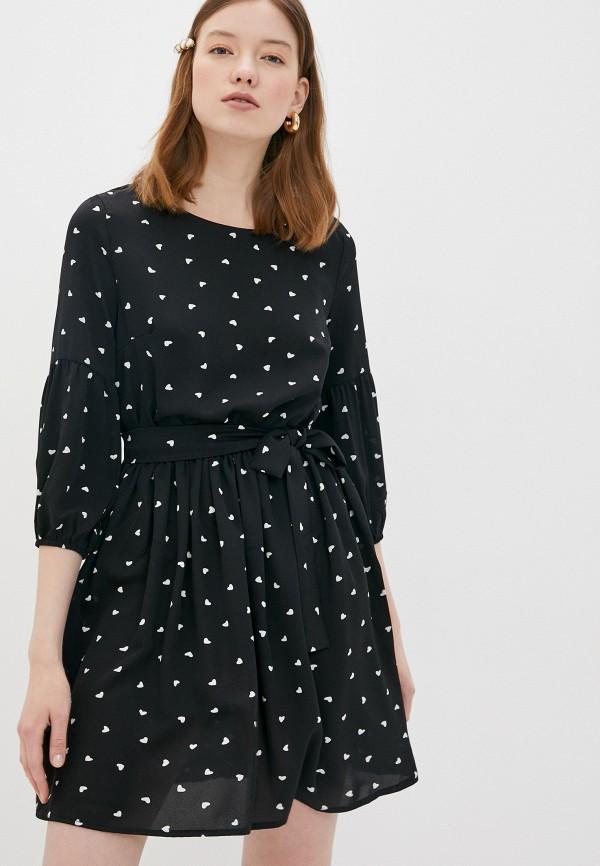 женское повседневные платье winzor, черное