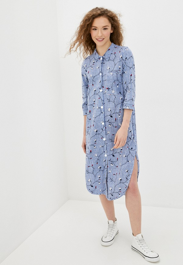 женское платье-рубашки winzor, синее
